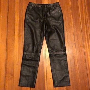 Topshop Unique black leather pants size US 4